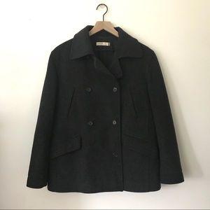 J. Crew Charcoal Gray Wool Pea Coat Sz S